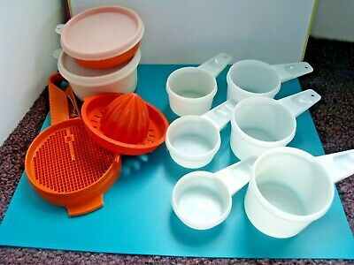 Tupperware Measuring Cups Complete Set, Sifter, Juicer, Little Wonder & Dip Bowl