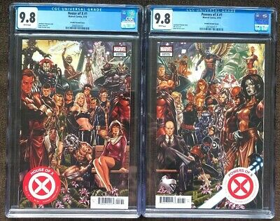 House Of X & Powers Of X #1 CGC 9.8 🔥Brooks Connecting Variant 1st Print Set 🔥
