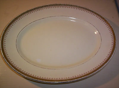 Antique Serving Platter Gold Edged Collectable Vintage Dinner Display Plate