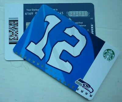 STARBUCKS CARD SEATTLE SEAHAWKS 12 th FLAG MAN 2019 #6169 w/ LINE MARK ON BACK