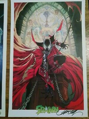 J Scott Campbell signed Spawn 300 cover print. 300 Cover variant - NY Comic Con