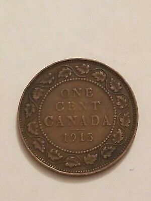 1915 CANADA Large Cent Coin 1c