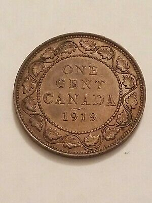 1919 CANADA Large Cent Coin 1c High Grade