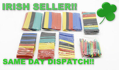 328Pcs Set of Heat Shrink Assorted Kit Heat Shrink Tube Wire Cable Insulated