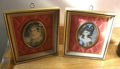 Pair Of Victorian Women Framed Portraits Cameo Creations