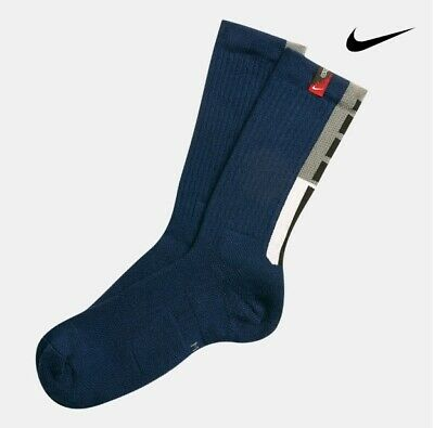 NEW Nike Elite Crew Basketball Socks Kyrie Irving  Men 8-12 Navy Blue SX7410 492