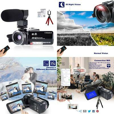 "1080P 26MP Video Camera WiFi Vlogging Camera YouTube 270° Flipping 3.0"" IPS New"