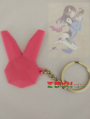 Game Overwatch OW DVA Keychain Key Ring Pendants Cute Cosplay Accessories Props