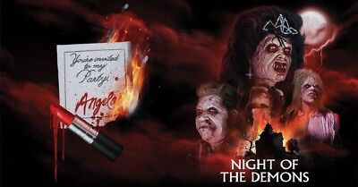 Scream Factory NIGHT OF THE DEMONS Blu-ray Horror LITHOGRAPH POSTER ONLY + PIN