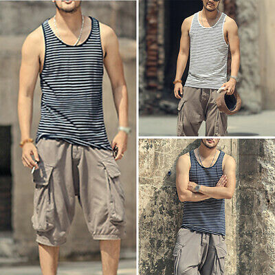 Mens Tops Male Shirts Summer Tops Loose Fit Tank Shirts Sleeveless Muscle
