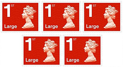 12 x Large Letter 1st Class First Class Stamps Royal Mail Post Office