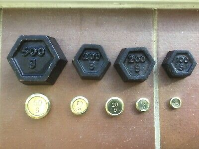 Weylux Metric Set of Weights For Kitchen Balance Scales Brass /Cast Iron