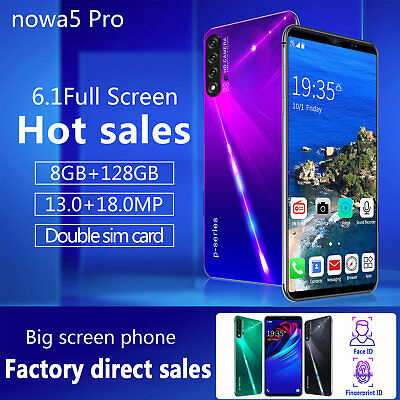 """Nowa 5 Pro 6.1"""" 8GB +128GB Unlocked Android Mobile Smart Phone HD Phablet WIFI"""