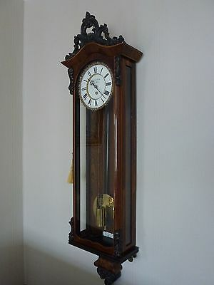 Single weight two piece dial Biedermeier Viennese regulator wall clock 1845