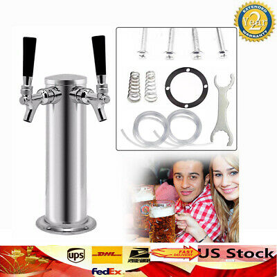Draft beer towers Height 330mm 2 Tap  Kegerator Homebrew Diameter 76mm  Faucets