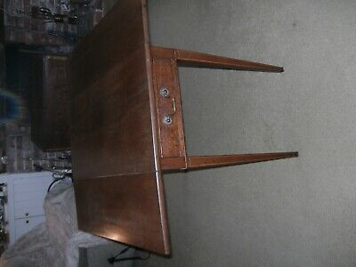 Antique 19th Century Mahogany Pembroke Table With End Drawer Lovely Table