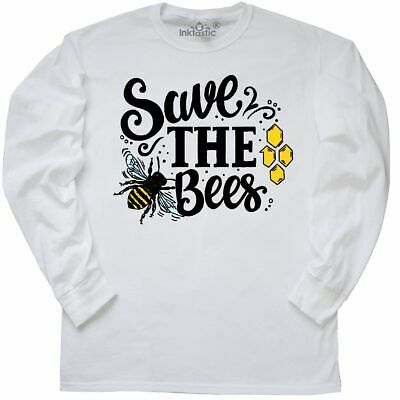 Inktastic Save The Bees With Bee Illustration With Color Women/'s V-Neck T-Shirt