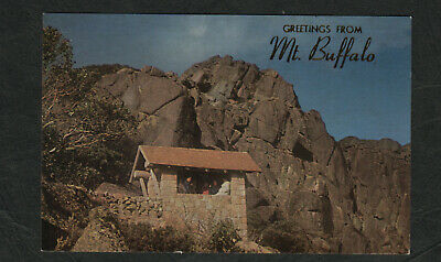 e3320)     1970's  POSTCARD  BACK WALL,THE HORN, MT BUFFALO VICTORIA AUSTRALIA