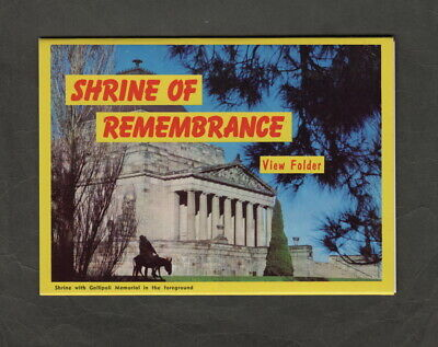 s1301)   VIEW FOLDER OF THE SHRINE OF REMEMBRANCE MELBOURNE VICTORIA AUSTRALIA