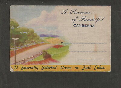 s1303)    VINTAGE VIEW FOLDER  OF CANBERRA IN A.C.T. OF  AUSTRALIA