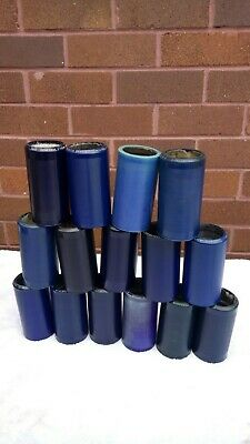 Lots of 15 Antique Edison blue cylinder phonograph records, 4 minute