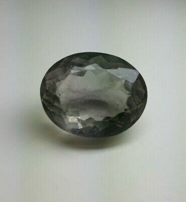 Natural Faceted 53.85 Carats 18x22 Oval Shape Fluorite Loose Gemstone