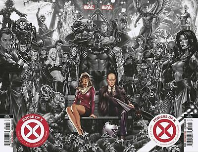 🔥FREE TOPLOADER🔥House Of X Powers #1 5th Print Mark Brooks B/W Variant Set NM