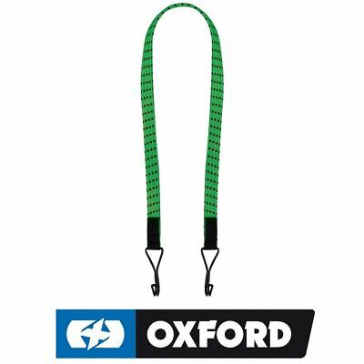 """Oxford Twin 16mm Straps Motorcycle Bike ATV 800mm 32"""" Elastic Cords Green New"""