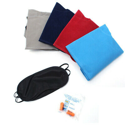 Inflatable U Type Pillow Outdoor Traveling Rest Tool with Eye Mask and Earplugs
