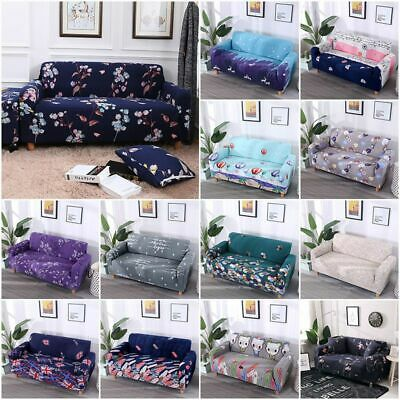 1-4 Sofa Covers Couch Slipcover Stretch Elastic Fabric Settee Protector Floral