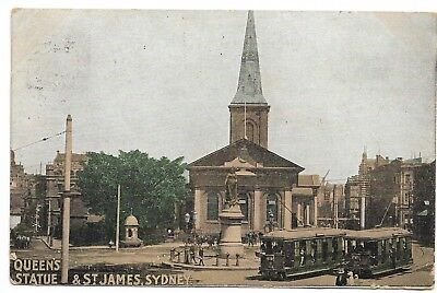 Queens Statue & St James, Sydney Colour  Used