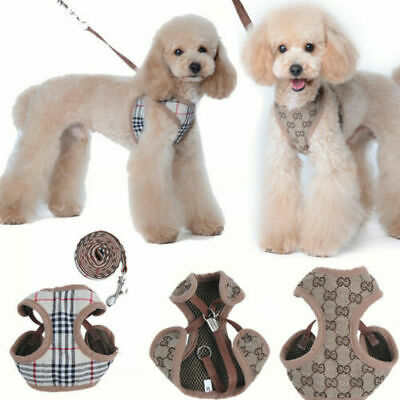 Soft Breathable Pet Dog Vest Harness Leather Harnesses Set for Puppy Rabbit Cat