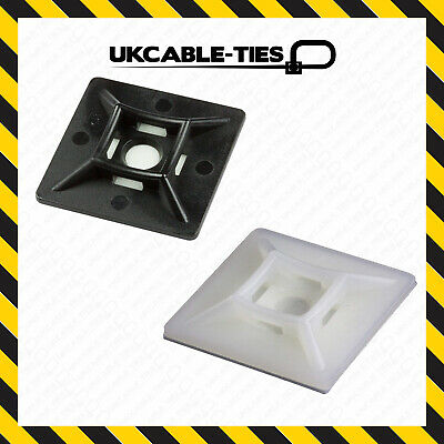 19//28//40mm Self Adhesive Cable Tie Mounts Clips for Wire Cable Conduit Tubing