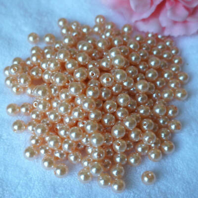 NEW DIY 8 mm Colour Acrylic Round Pearl Spacer Loose Beads Jewelry Maki YYV