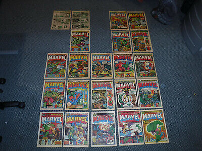 HULK COMICS LOT 1970's Onwards - Mighty World of Marvel, The Incredible Hulk