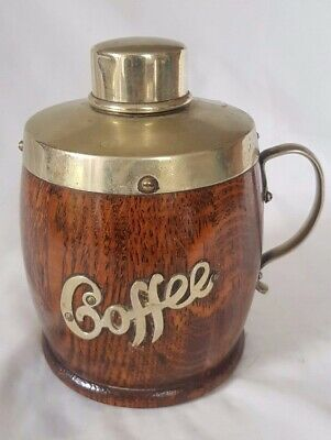 Charming Wooden And Epns Coffee Jar / Flask. Probably Circa 1920