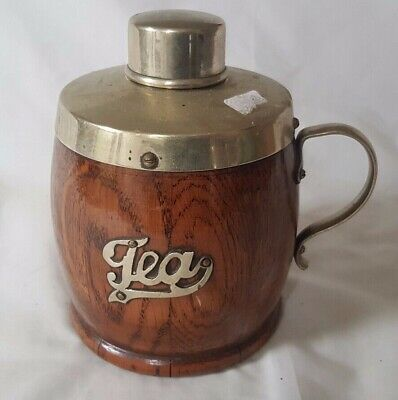 Charming Wooden And Epns Tea Jar / Flask. Probably Circa 1920