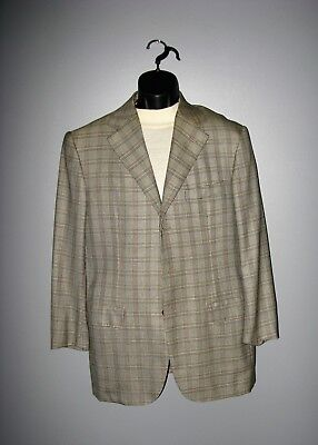 ST. ANDREW'S for BERGDORF GOODMAN MEN'S PLAID CASHMERE SPORT COAT 40 R