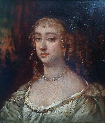 Royal Artist 17thC English Old Master Portrait of Lady Fine Antique Oil Painting