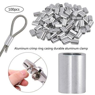 Aluminum Crimping Loop Sleeve Aluminum Clamp Chuck for Steel Wire Rope Cable