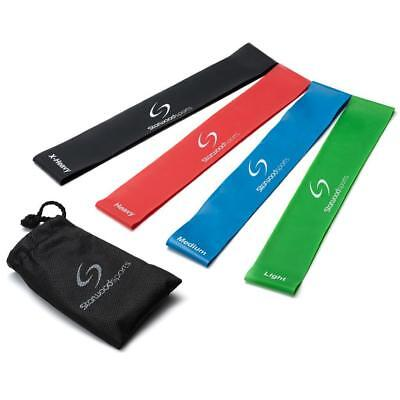 Starwood Sports Resistance Loop Stretch Bands - Fitness Gym Yoga Physio Set of 4