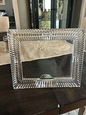 Signed Waterford Crystal Picture Photo Frame SOMERSET Pattern Holds 5x7 Photo