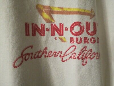 In N Out Burger Southern California T Shirt, Excellent Condition, Size XL