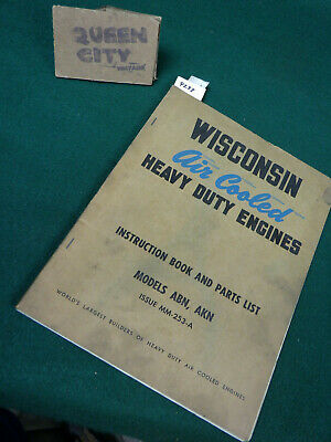 Wisconsin ABN AKN air cooled engine repair/service manual Single Cylinder #2