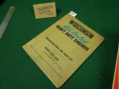 Wisconsin AEN AENS air cooled engine repair/service manual Single Cylinder
