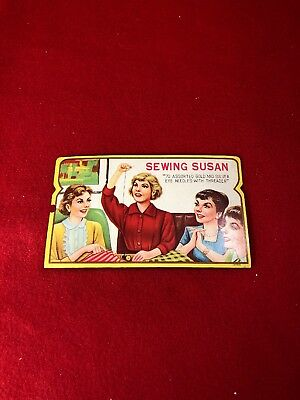 Vintage Sewing Susan Woman Quilt Group Sewing Needle Book 70 Needle