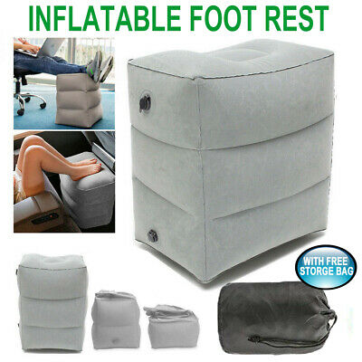 Inflatable Foot Rest Cushion Travel Air Pillow Office Home Leg Footrest Relax AU