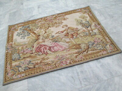 6240 - Old French / Belgium Tapestry Wall Hanging - 150 x 105 cm
