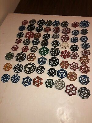 Vintage Water Valve Handles Steampunk Industrial Art  Faucet Knobs 65 PCs