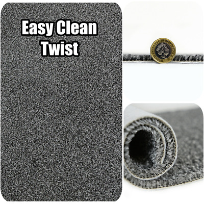 STAIN Resistant - Easy CLEAN Silver Grey Hard-wearing 4m Wide Carpet £4.49m²